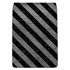 Stripes3 Black Marble & Gray Leather (r) Flap Covers (l)