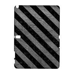 Stripes3 Black Marble & Gray Leather (r) Galaxy Note 1