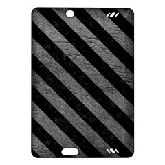 Stripes3 Black Marble & Gray Leather (r) Amazon Kindle Fire Hd (2013) Hardshell Case