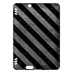 Stripes3 Black Marble & Gray Leather (r) Kindle Fire Hdx Hardshell Case