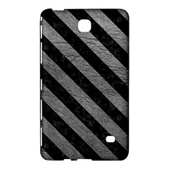 Stripes3 Black Marble & Gray Leather (r) Samsung Galaxy Tab 4 (7 ) Hardshell Case