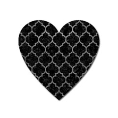 Tile1 Black Marble & Gray Leathertile1 Black Marble & Gray Leather Heart Magnet