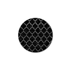 Tile1 Black Marble & Gray Leathertile1 Black Marble & Gray Leather Golf Ball Marker