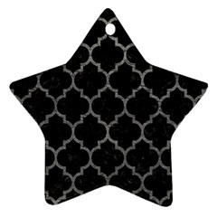 Tile1 Black Marble & Gray Leathertile1 Black Marble & Gray Leather Star Ornament (two Sides)