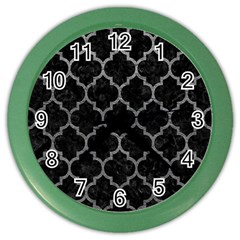 Tile1 Black Marble & Gray Leathertile1 Black Marble & Gray Leather Color Wall Clocks