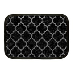 Tile1 Black Marble & Gray Leathertile1 Black Marble & Gray Leather Netbook Case (medium)