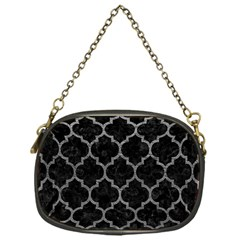 Tile1 Black Marble & Gray Leathertile1 Black Marble & Gray Leather Chain Purses (one Side)