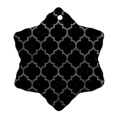Tile1 Black Marble & Gray Leathertile1 Black Marble & Gray Leather Ornament (snowflake)