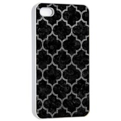Tile1 Black Marble & Gray Leathertile1 Black Marble & Gray Leather Apple Iphone 4/4s Seamless Case (white)