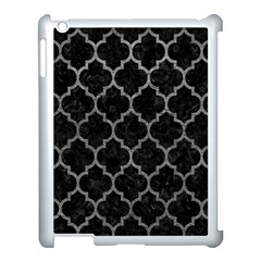 Tile1 Black Marble & Gray Leathertile1 Black Marble & Gray Leather Apple Ipad 3/4 Case (white)
