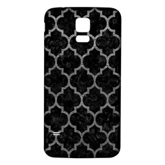 Tile1 Black Marble & Gray Leathertile1 Black Marble & Gray Leather Samsung Galaxy S5 Back Case (white)
