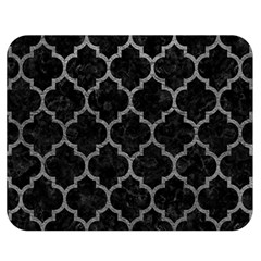 Tile1 Black Marble & Gray Leathertile1 Black Marble & Gray Leather Double Sided Flano Blanket (medium)