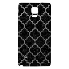 Tile1 Black Marble & Gray Leathertile1 Black Marble & Gray Leather Galaxy Note 4 Back Case
