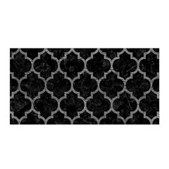 Tile1 Black Marble & Gray Leathertile1 Black Marble & Gray Leather Satin Wrap