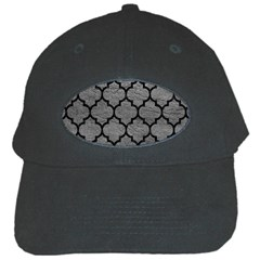 Tile1 Black Marble & Gray Leather (r) Black Cap