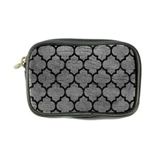 Tile1 Black Marble & Gray Leather (r) Coin Purse