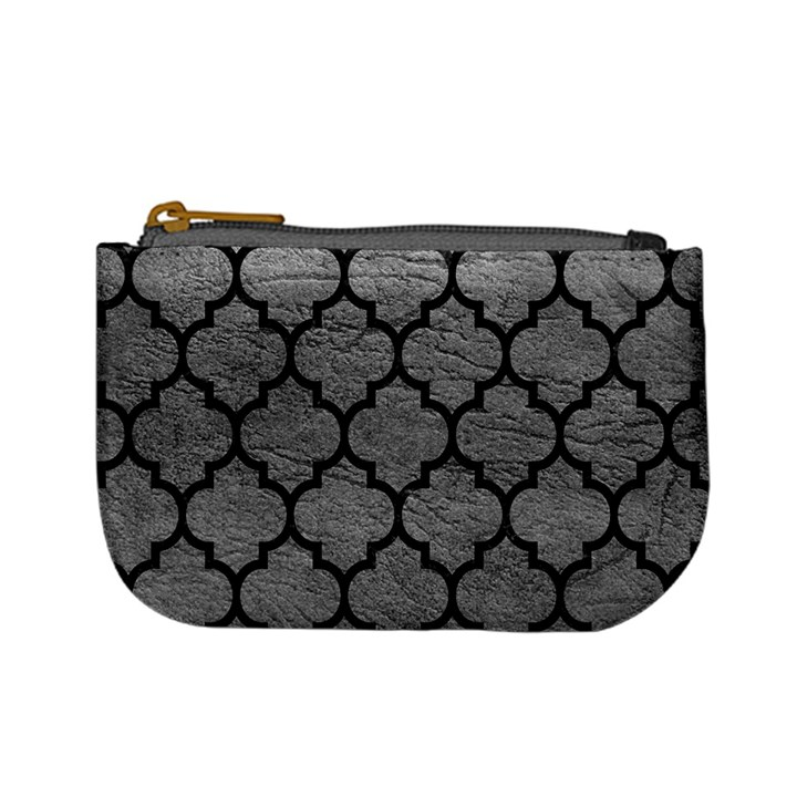 TILE1 BLACK MARBLE & GRAY LEATHER (R) Mini Coin Purses
