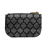 TILE1 BLACK MARBLE & GRAY LEATHER (R) Mini Coin Purses Back