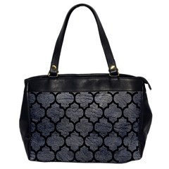 Tile1 Black Marble & Gray Leather (r) Office Handbags