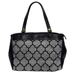 Tile1 Black Marble & Gray Leather (r) Office Handbags (2 Sides)
