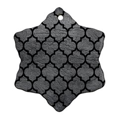 Tile1 Black Marble & Gray Leather (r) Ornament (snowflake)
