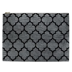 Tile1 Black Marble & Gray Leather (r) Cosmetic Bag (xxl)