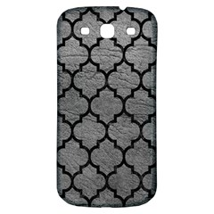 Tile1 Black Marble & Gray Leather (r) Samsung Galaxy S3 S Iii Classic Hardshell Back Case
