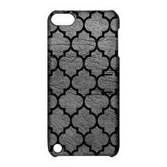 Tile1 Black Marble & Gray Leather (r) Apple Ipod Touch 5 Hardshell Case With Stand