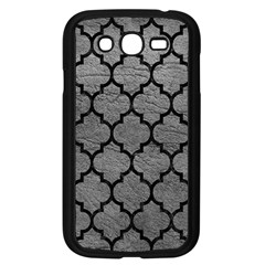 Tile1 Black Marble & Gray Leather (r) Samsung Galaxy Grand Duos I9082 Case (black)