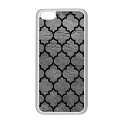 Tile1 Black Marble & Gray Leather (r) Apple Iphone 5c Seamless Case (white)