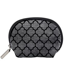 Tile1 Black Marble & Gray Leather (r) Accessory Pouches (small)