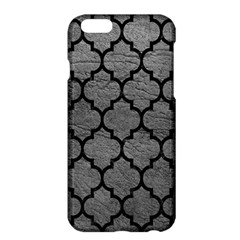 Tile1 Black Marble & Gray Leather (r) Apple Iphone 6 Plus/6s Plus Hardshell Case