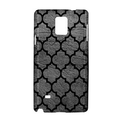 Tile1 Black Marble & Gray Leather (r) Samsung Galaxy Note 4 Hardshell Case