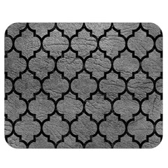 Tile1 Black Marble & Gray Leather (r) Double Sided Flano Blanket (medium)