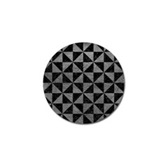 Triangle1 Black Marble & Gray Leather Golf Ball Marker
