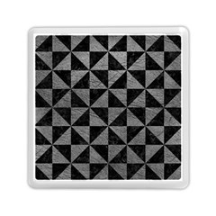 Triangle1 Black Marble & Gray Leather Memory Card Reader (square)