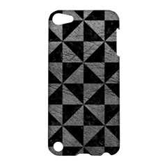 Triangle1 Black Marble & Gray Leather Apple Ipod Touch 5 Hardshell Case