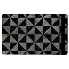 Triangle1 Black Marble & Gray Leather Apple Ipad 2 Flip Case