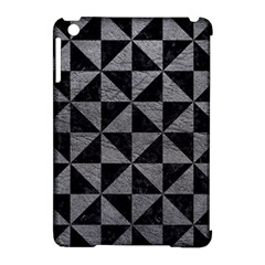Triangle1 Black Marble & Gray Leather Apple Ipad Mini Hardshell Case (compatible With Smart Cover)