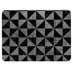 Triangle1 Black Marble & Gray Leather Samsung Galaxy Tab 7  P1000 Flip Case