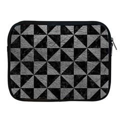Triangle1 Black Marble & Gray Leather Apple Ipad 2/3/4 Zipper Cases