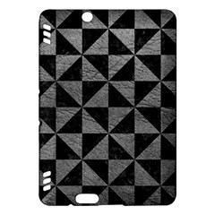 Triangle1 Black Marble & Gray Leather Kindle Fire Hdx Hardshell Case