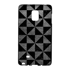 Triangle1 Black Marble & Gray Leather Galaxy Note Edge