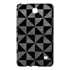 Triangle1 Black Marble & Gray Leather Samsung Galaxy Tab 4 (8 ) Hardshell Case