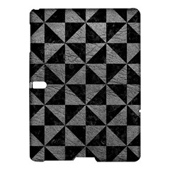 Triangle1 Black Marble & Gray Leather Samsung Galaxy Tab S (10 5 ) Hardshell Case