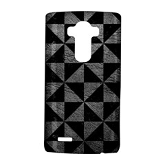 Triangle1 Black Marble & Gray Leather Lg G4 Hardshell Case