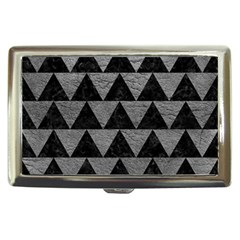 Triangle2 Black Marble & Gray Leather Cigarette Money Cases
