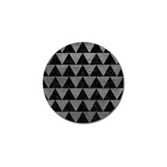 Triangle2 Black Marble & Gray Leather Golf Ball Marker (4 Pack)