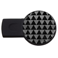Triangle2 Black Marble & Gray Leather Usb Flash Drive Round (2 Gb)