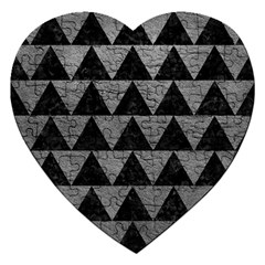 Triangle2 Black Marble & Gray Leather Jigsaw Puzzle (heart)